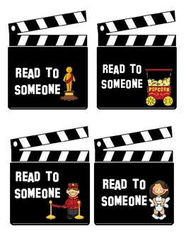 Hollywood/Movie Themed Center Cards