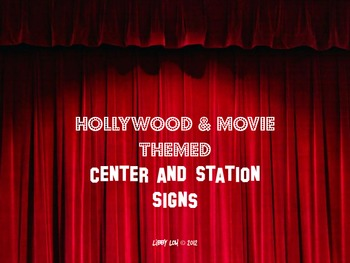 Hollywood/Movie Themed Center & Station Signs