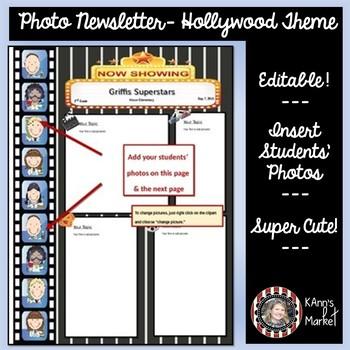 HOllywood/Movie Theme: Students Photos inside Movie Filmst