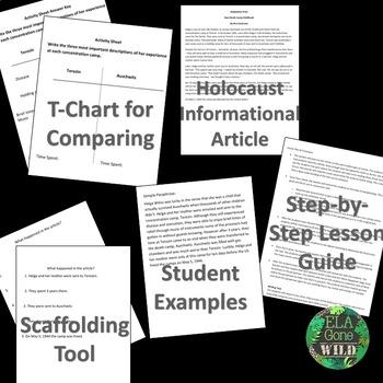Paraphrasing Lesson (Holocaust Close Read, Activity, and Lesson Plan)