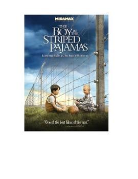 Holocaust: Boy in Striped Pajamas Movie Sheet: World War II and Holocaust