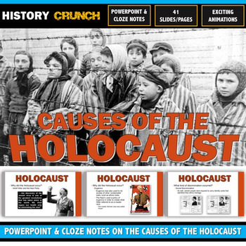 Holocaust Causes - PowerPoint with Cloze Notes (Anti-Semitism, Nationalism, etc)