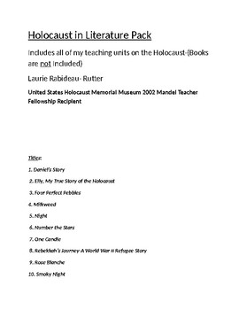 Holocaust Complete Works(Books Not Included)