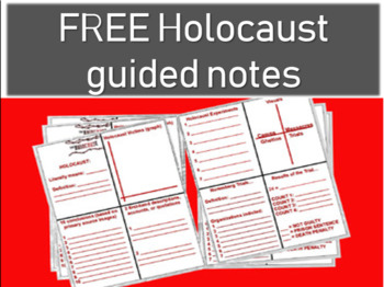 Holocaust Overview: FREE graphic organizer to accompany the 90 slide PPT)