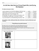 I'm Still Here Holocaust Documentary Worksheet