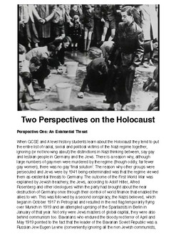 Holocaust Evaluation Exercise