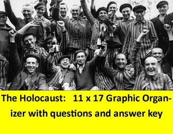 "Holocaust Graphic Organizer:  11 x 17"" with questions & answer keys"