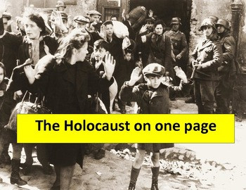 """Holocaust Graphic Organizer:  11 x 17"""" with questions & an"""