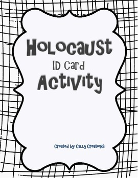 Holocaust ID Card Activity