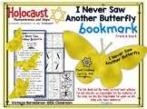 Holocaust - I Never Saw Another Butterfly / 2-sided  bookmark