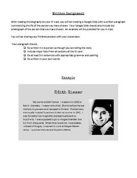 Holocaust ID Card Project