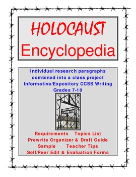Holocaust Intro Project: Class Encyclopedia 7-10  Complete Writing Guide