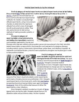 Holocaust Introduction: Medical Experiments