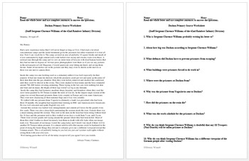 Holocaust Lesson Plan Collection (Webquests and Primary Source Worksheets)