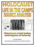 Holocaust - Life in the Camps (Source Analysis, Questions, Assignment with Key)