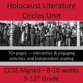 Holocaust Literature Circles 8-10 Week Unit Plan -- 9-12th Grade