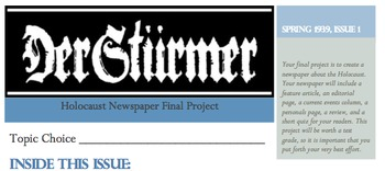 Holocaust Newspaper Project
