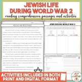 Holocaust World War 2 Reading Comprehension Distance Learning