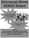 Holocaust Novel BINGO Board
