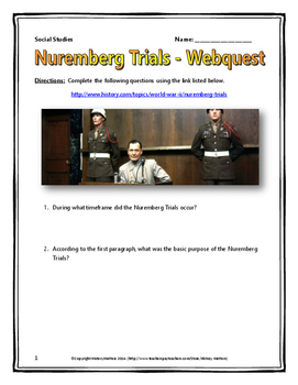 holocaust nuremberg trials webquest key world war ii tpt holocaust nuremberg trials webquest key world war ii