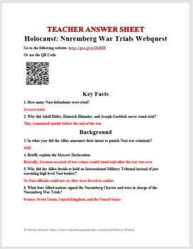 Holocaust: Nuremberg War Trials Webquest
