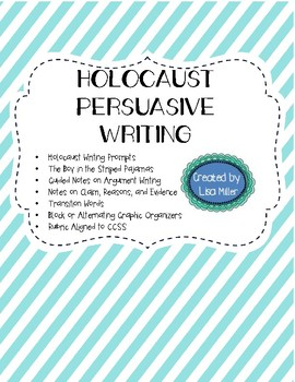 Holocaust Opinion Writing Unit