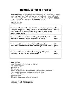 Holocaust Poem Project
