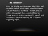Holocaust PowerPoint