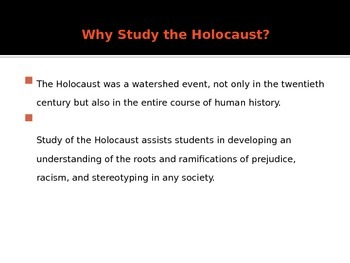 Holocaust PowerPoint Presentation
