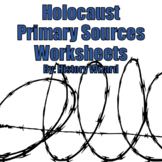 Holocaust Primary Sources Worksheets