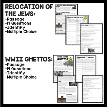 holocaust reading comprehension worksheets 10 articles with questions hitler. Black Bedroom Furniture Sets. Home Design Ideas