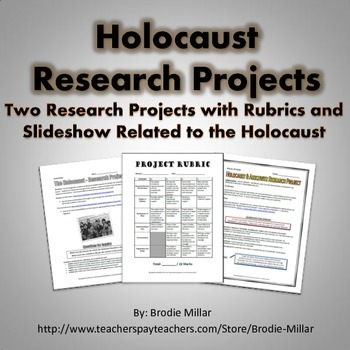 Holocaust - Research Projects (2 Projects, Slideshow, Rubr