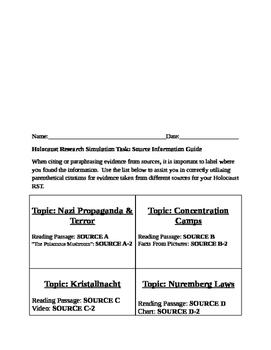 Holocaust Research Simulation Task PARCC PREP