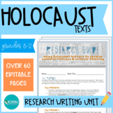 Holocaust Research Unit: Literature & Writing - EDITABLE #DistanceLearningTpT