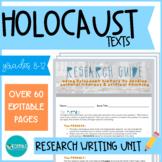 Holocaust Research Unit: Literature & Writing - EDITABLE #DistanceLearningTpT