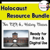 Holocaust Resource Bundle for ELA, History - Print & Digital