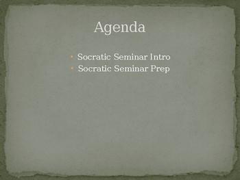 Holocaust Socratic Seminar Prep + Questions