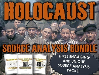 Holocaust Sources Bundle (Primary Sources, Stories, Questions, Assignments, Key)