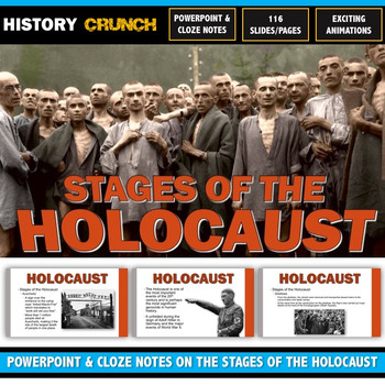 Holocaust Stages - PowerPoint with Cloze Notes (116 Slides/Pages!)