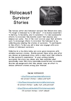 Holocaust Survivor Stories Assignment/Handout