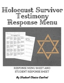 Holocaust Survivor Testimony Response Menu