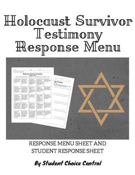 Holocaust Survivor Testimony Response Menu