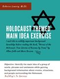 Holocaust Themed Main Idea Exercise