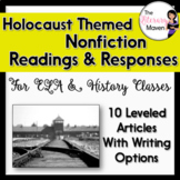 Holocaust Themed Nonfiction Readings & Responses for ELA, History - CCSS Aligned