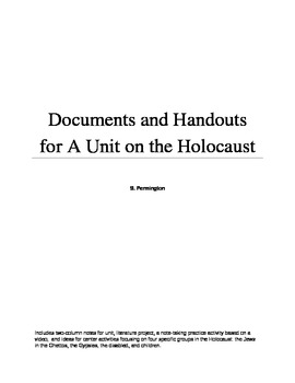 Holocaust Unit Activities