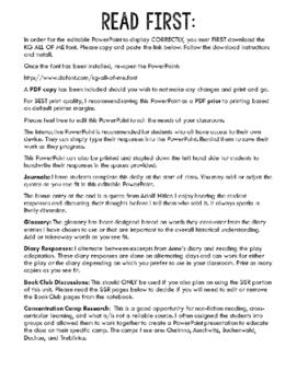 Holocaust Unit/Anne Frank Interactive Notebook: Editable Digital & Printable PDF