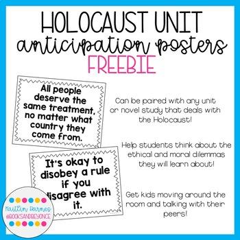 Holocaust Unit Anticipation Posters FREEBIE