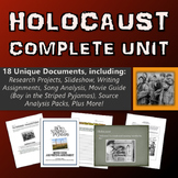 Holocaust - Unit (Projects, Source Analysis, Movie Guide, Webquest, etc.)