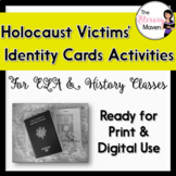 Holocaust Victims' Identity Cards Activities for ELA, History