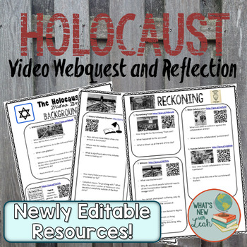 Holocaust Video Webquest and Foldable Reflection